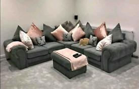 Amaya Grey Corner Sofa Sale