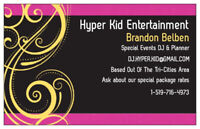 Wedding DJ and special events Hyper Kid Entertainment