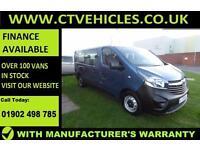 2016 66 plate Vauxhall VIVARO COMBI CDTI 9 seater minibus A/C B/TOOTH