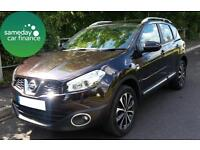 £185.92 PER MONTH BLACK 2011 NISSAN QASHQAI 1.6 N-TEC 5 DOOR PETROL MANUAL