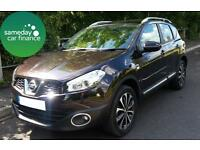 £169.89 PER MONTH BLACK 2011 NISSAN QASHQAI 1.6 N-TEC 5 DOOR PETROL MANUAL