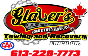 GLAUER'S 24 HOUR TOWING & ROADSIDE ASSISTANCE  613 229 7773