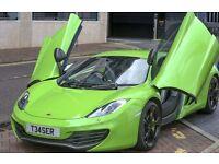 Green McLaren MP4 12C Prom Hire Wedding Hire Groom Bride hire One Off McLaren Promotional Show Car