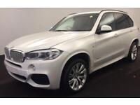 2015 WHITE BMW X5 3.0 XDRIVE30D M SPORT DIESEL AUTO 4X4 CAR FINANCE FR £113 PW