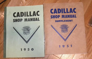1950 1951 OEM CADILLAC Shop Service Manuals LOT GROUP of 2