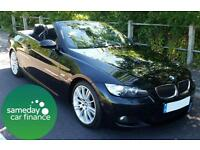 £223.62 PER MONTH BLACK 2008 BMW 330 3.0 M SPORT CONVERTIBLE AUTOMATIC PETROL
