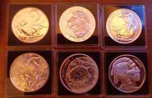 Monnaie Silver collection of 6 coins, each 1 oz 999 pure silver