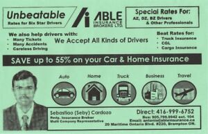 High/Low risk drivers, lowest insurance rates car,home