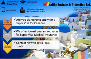 SUPER VISA AND VISITORS INSURANCE AT LOWEST RATES
