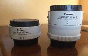 Canon 1.4X and 2X Teleconverters