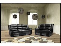 FREE DELIVERY AND SHIPPING*** Brand new 3+2 Toronto recliner sofas