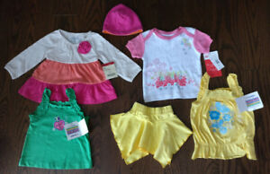 Set of clothes 6-12 Months for Baby Girl (6 pieces)Brand new