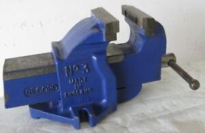 """MECHANICS BENCH VISE RECORD No.3 Clean User 4"""" Wide 5"""" Open"""