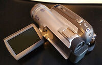 Panasonic PV-GS80 MiniDV Camcorder with accessories and tapes