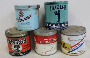 #5 Tobacco Cigarette Tins Advertising Tin Can 1/2 lb round