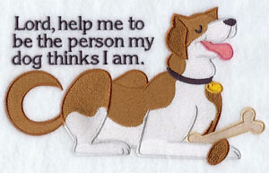 The Person My Dog Thinks I Am Embroidered Block St. John's Newfoundland image 1