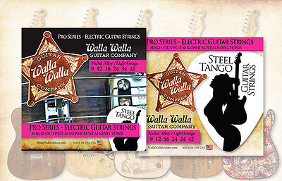 Walla Walla Guitar Company Steel Tango Strings .009 Light Gauge
