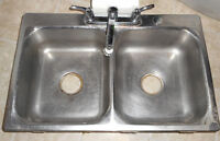 Stainless Steel Sinks - With Faucet - Very Good Condition