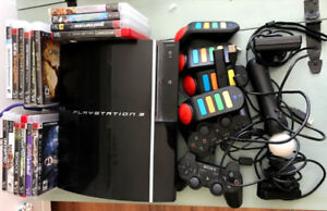 PS3 FAT, Move, 2 controllers, 4 quiz world buzzers
