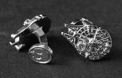 Star Wars Millennium Falcon Mens Cufflinks cuff links novelty Gift Box