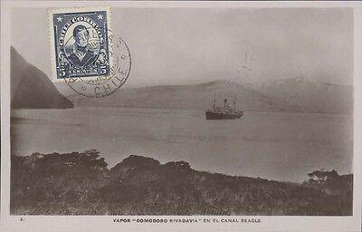 Chile Vapor Comodoro Rivadavia En El Canal Beagle Real Photo