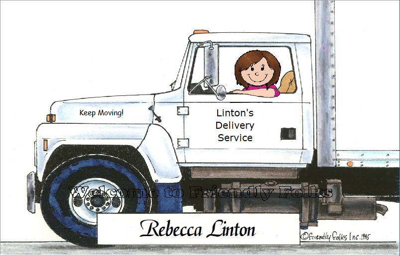 Personalized Truck Driver Picture - Makes A Great Gift  - $10.50