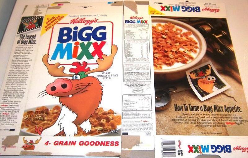 Rare 1991 Bigg Mixx Kellogg