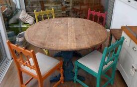 Shabby Chic Circular Table
