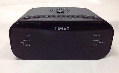 Timex T231GY3 FM Clock Radio Dual Alarm  Speaker  - Gunmetal