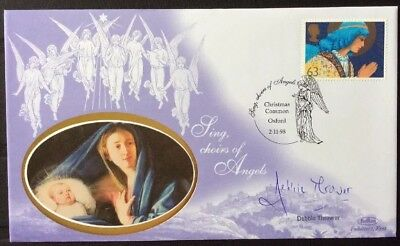 DEBBIE THROWER, TV, Songs Of Praise, Signed 2.11.1998 Christmas FDC Angels ()