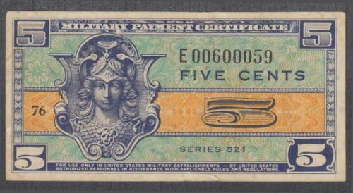 US MPC 5 Cents Note Series 521  Replacement