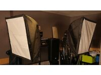 Interfit cool lite 2000w continuous lighting - including soft boxes