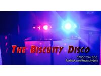 The Biscuity Disco - your local, friendly disco peppered with personality.
