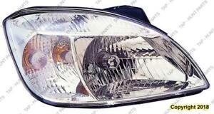 Head Lamp Passenger Side Chrome Bazel (Sdn/Rio 5) High Quality Kia Rio 2009-2011