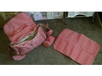 Mothercare Changing bag with matching changing mat and bottle bag