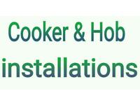 COOKER & HOB INSTALLATION. GAS ENGINEER, COOKER FITTER