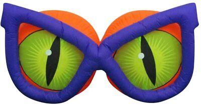 7' Gemmy Airblown Inflatable Kaleidoscope Evil Eyes w/ PURPLE Glasses Halloween