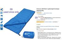 Blue Sleeping bag like new (used once only)
