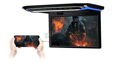 "10.2"" LED HDMI 1080P TFT Car Roof Ceiling Flip Down Overhead Monitor USB Black"