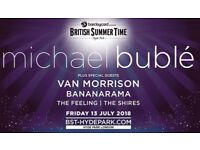 UP TO 6 x GENERAL ADMISSION TICKETS FOR BST MICHAEL BUBLE AND GUESTS