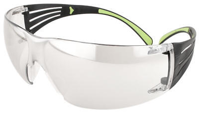 3m Securefit Safety Glasses With Blacklime Temples And Clear Anti-fog Lens