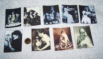 Halloween~Gipsy~Fortune Teller~Palmistry~Tarot~Linen Cardstock~Cards~Set - Halloween Fortune