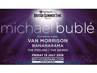 Two Face Value Tickets to Michael Buble at British Summer Time in Hyde Park Friday 13/7/18