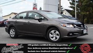 2013 Honda CIVIC LX Heated seats, Bluetooth, One Owner,!!