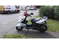Yamaha aerox 50cc white