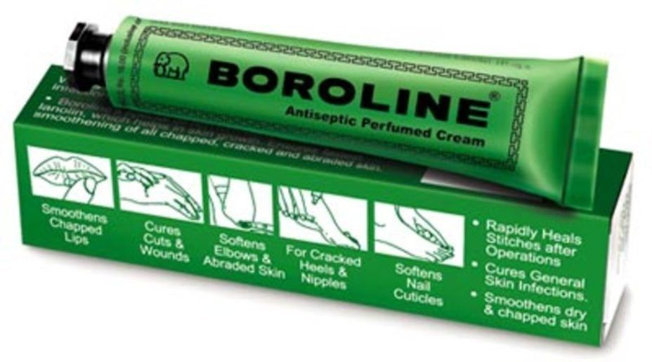 reestablishment of boroline Boroline antiseptic lotions for naturally healthy skin - is a mix of the antiseptic boric acid, the astringent and sunscreen zinc oxide, and also the emollient lanolin (which shields soft skin naturally and commonly) and is meant to be useful for wounds, cracked lips, rough skin, and also to treat illnesses.