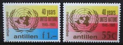 NETHERLANDS ANTILLES 1985 UNO United Nations Organization. Set of 2. MNH SG888/9