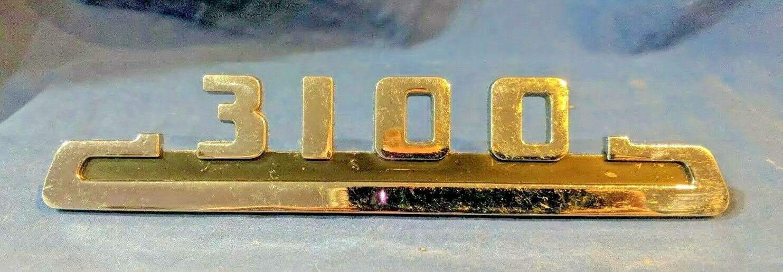 "Emblem  ""3100"" Truck 53-54  Side Chrome Nice solid original part. Chevrolet Chev"