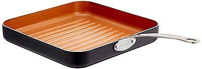 GOTHAM STEEL 10.5-Inch Non-Stick Grill Pan With Ti-Cerama Surface, Copper - New