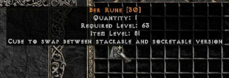 PD2 Project Diablo 2 Softcore SC - BER RUNE